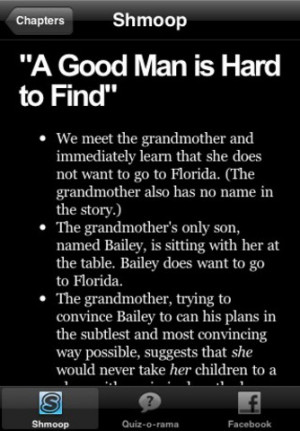 Download A Good Man is Hard to Find Study Guide & Quiz-o-Rama iPhone ...