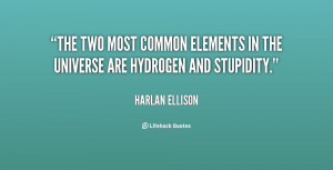 The two most common elements in the universe are hydrogen and ...