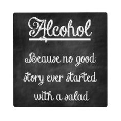 Chalkboard Bar Sign With Funny Quote #alcohol
