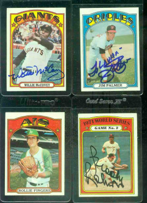 AUTOGRAPHED: 1972 Topps #285 Gaylord Perry w/PSA/DNA Auction LOA ...