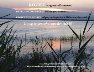 productive regret and unproductive regret. For more Daily Positive ...