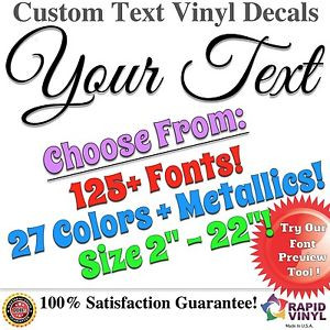 Custom-Text-Name-Quote-Vinyl-Car-Lettering-Auto-Truck-Personalized ...