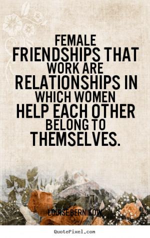 Friendship between women