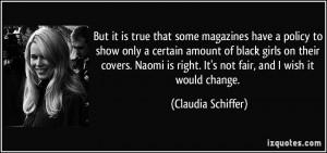 Claudia Schiffer's quote #2