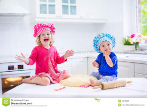 Cute kids, adorable little girl and funny baby boy wearing pink and ...