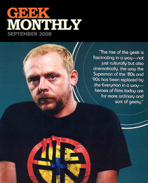 Simon Pegg in Geek Monthly