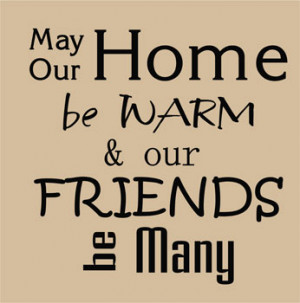 Catalog > Home Be Warm, Family Wall Art Decal