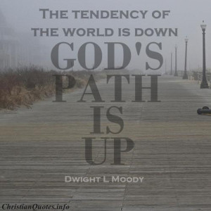Dwight L Moody Quote - God's Path - Path along ocean