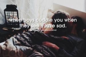 couple, cuddle, love, sad, when boys