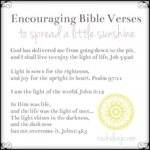 Here's my list of verses to spread sunshine!Looks like a beautiful day ...