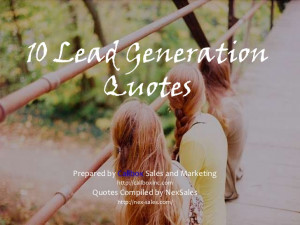 Inspiring Lead Generation Quotes