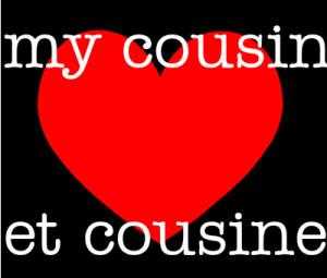 my cousin love et cousine créé par SARAH