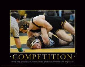 Iowa Hawkeye Wrestling Motivational Poster Art Dan Gable Asics Shoes ...