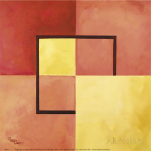 Four Squares with Lines Art Print