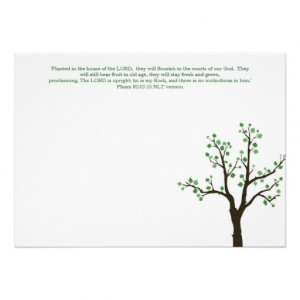 Tree Design Flat Note Cards Planted Bible Verses Invites