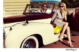 car, claudia schiffer, fashion, luxury, salvatore ferragamo, summer ...