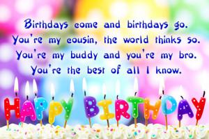 Happy Birthday Quotes for Cousin