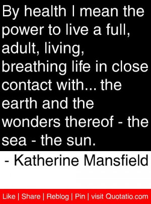 ... thereof the sea the sun katherine mansfield # quotes # quotations