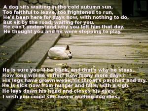 How a waiting dog dies
