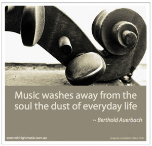 Music washes away Auerbach Quote