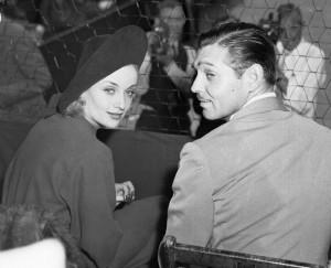 Clark Gable and Carole Lombard. 18 Sep 1937, Los Angeles, California ...