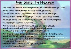 My Sister In Heaven. Happy Birthday Denise.