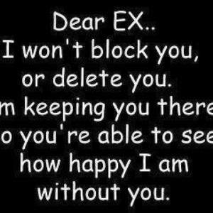To my ex...hahahaha