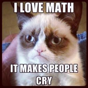Grumpy Cat and math.