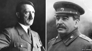 Home towns struggle with legacy of Stalin and Hitler