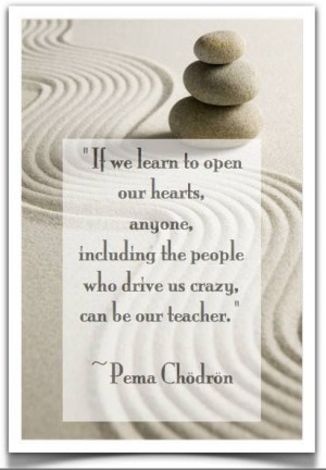 ... crazy, can be our teacher.