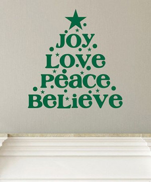 Take a look at this Green 'Joy Love Peace' Wall Quote by Wallquotes ...