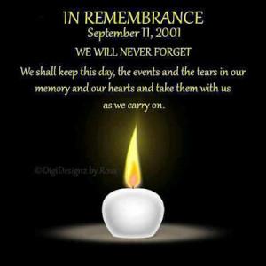 Remembering 9/11- Gone But Not Forgotten