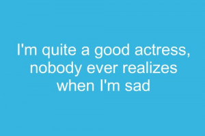 actress, blue, quotes, sad