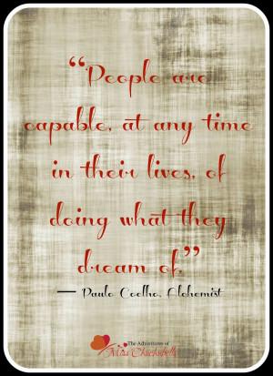 Paulo Coelho, The Alchemist Quotes