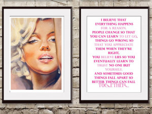marilyn monroe quotes and sayings about men Wall Decor Quotes By ...