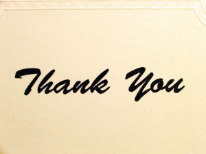 Hospitality Professionals: Giving Thanks