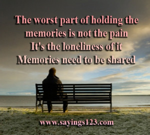 Part of holding the Memories