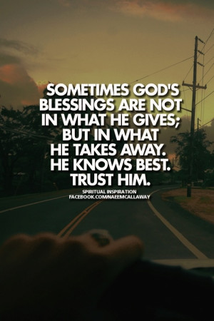 Trust Him.