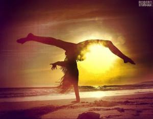 beautiful yoga, #yoga, robert sturman, inversion, beach, arm balance ...