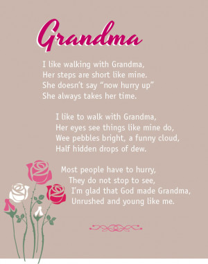 Grandma Poem Typography Art...