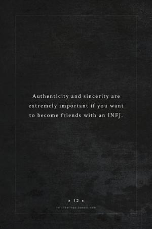 Personality type : INFJ