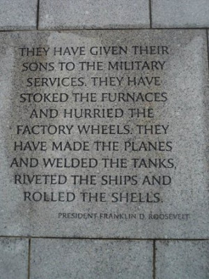 National World War II Memorial Photo: FDR quote