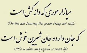 """One thousand years ago, Ferdowsi, the Iranian poet said: """"On the ant ..."""