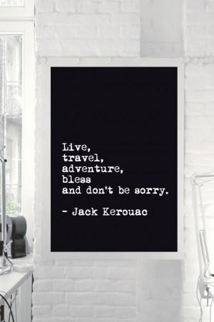 Jack Kerouac Motivational Inspirational Quote Art Wall Decor Poster ...