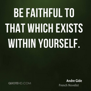 Andre Gide Inspirational Quotes