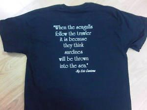 Eric Cantona Seagulls Quote Tee Shirt 100 Cotton - eBay
