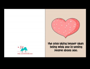 Valentine Card with cute Love Quote