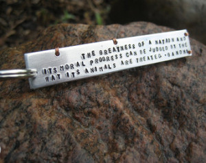... - Heavy Gauge - Wire Wrapped - Lightweight - Gandhi Animal Quote