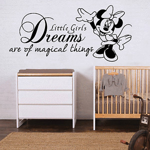 Minnie-Mouse-Wall-Sticker-Quote-Disney-Girls-Bedroom-Art-Decal-Nursery ...