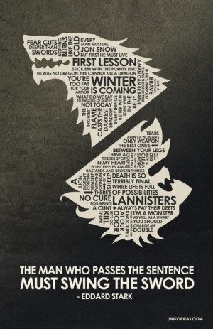Game of Thrones Game of Thrones Quote Poster
